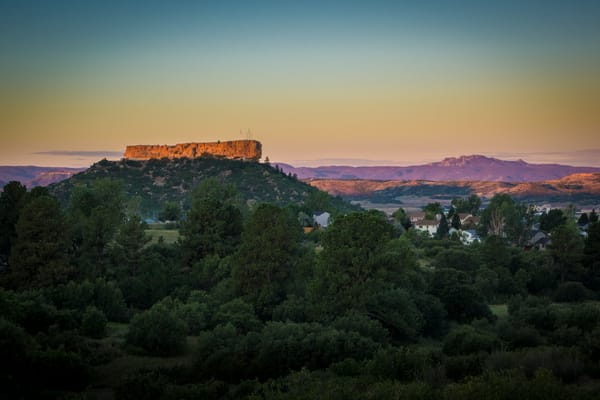 Sunrise Photograph of Castle Rock Colorado Late Summer