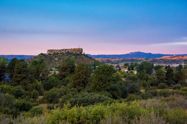 Photograph of Castle Rock Colorado Purple & Blue Sunrise Colors
