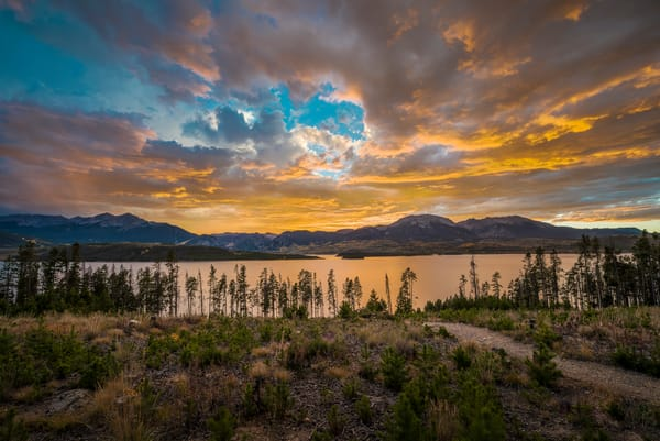 Sunset Photo Dillon Reservoir Prospector Campground Summit County Colorado