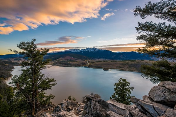 Picture of Lake Dillon Sunset Sapphire Point Overlook Summit County Colorado