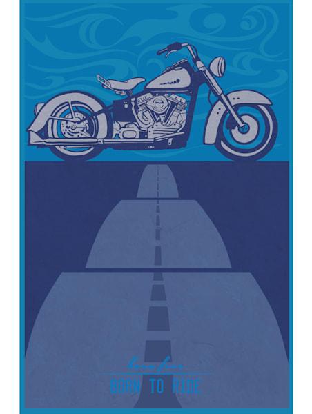 vintage cruiser motorcycle art for sale