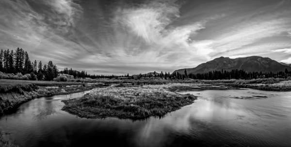Tallac Meadow Black & White Lake Tahoe Print