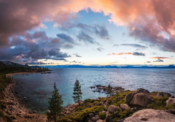 Skys of Pink, Lake Tahoe Art Print
