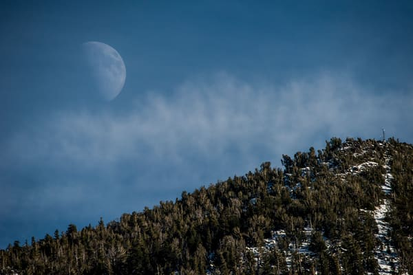 Heavenly Moon, Lake Tahoe photo print