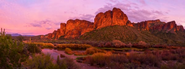 Salt River Sunset Panoramic photo print