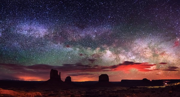 Milkway Over Monument Valley Fine Art Print