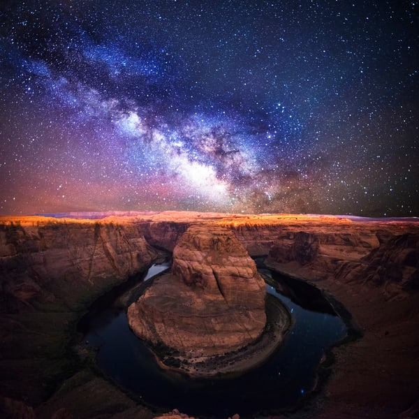 Horseshoe Bend Stargazing Photo Print