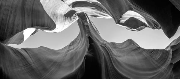 Eagles Nest Black and White, Arizona Slot Canyons Fine Art Print