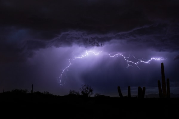 Desert Lightning, Scottsdale AZ Fine Art Photography Print