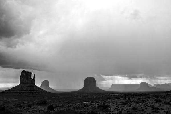 Electric Beauty, Monument Valley Lightning photo print