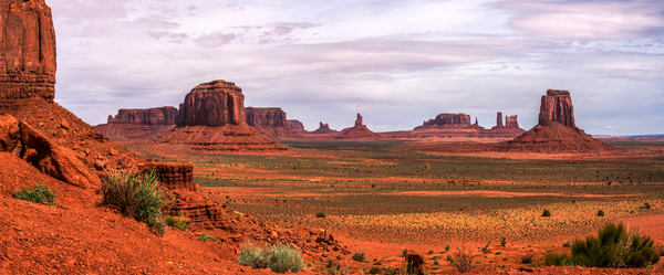 North Point Monument Valley Panorama Fine Art Print