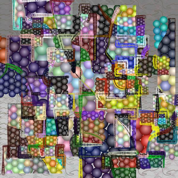 Atomic Quilt Art Print
