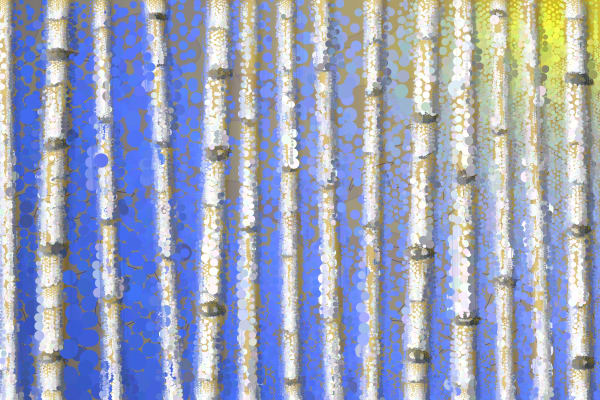 Aspen Tree art by Algorist Peter McClard at BrillianceGallery.com