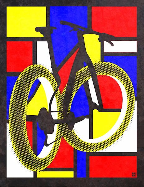 Mountain bike modern art by Sassan Filsoof