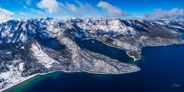 The Gem Of The Sierras, Limited Edition Emerald Bay Lake Tahoe Aerial Photo Print