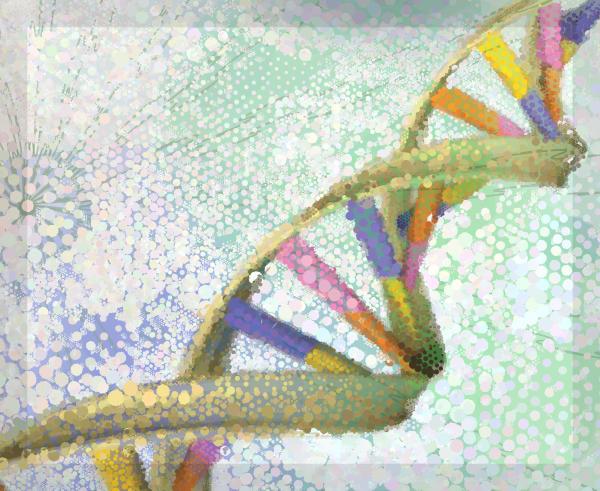 DNA Strand Wall Prints