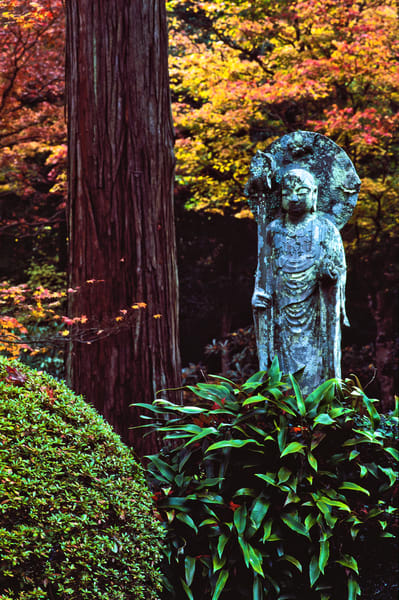 Jizo statue. Sanzen-in Temple gardens.  Ohara , Japan