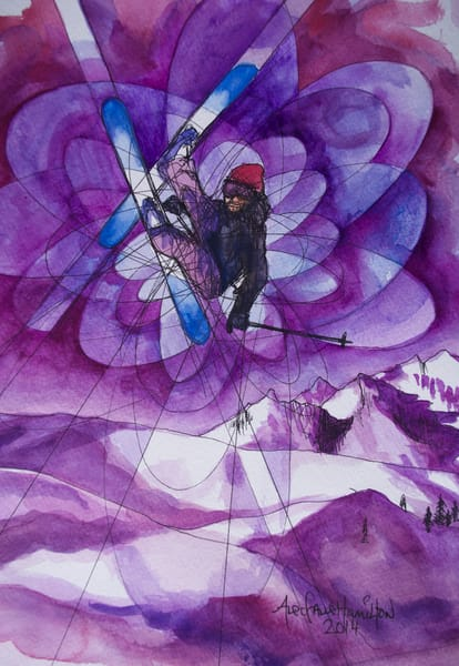 Purple Flip Art | Gnarwhal Designs