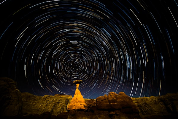 Star Trail Fine Art Photograph   JustBob Images