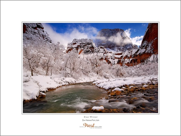 Zion Winter Poster