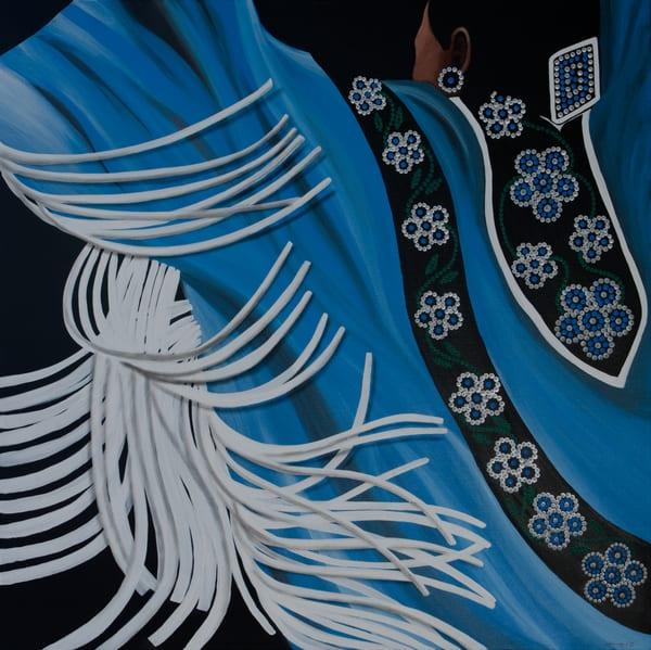 Blue Female Fancy Dancer