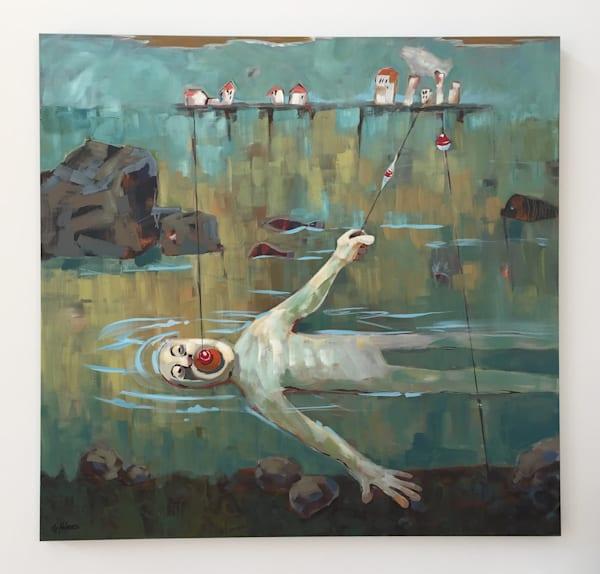 Flash Flood Warning Painting by Cindy Holmes. Buy prints and original art at Matt McLeod Fine Art Gallery.