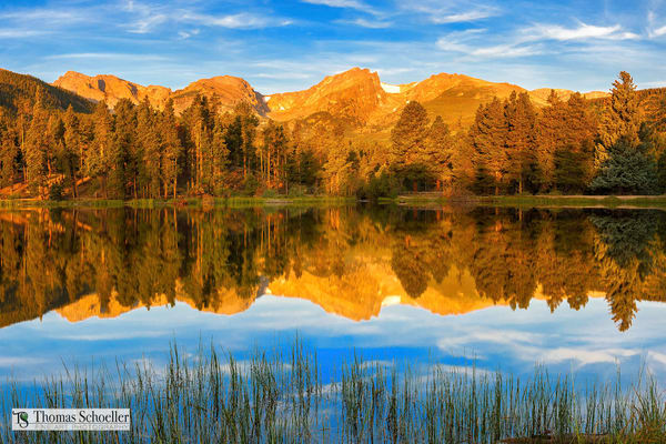 Fine Art prints of Rocky Mountain National Park/Sprague Lake at dawn nature inspired Fine Art Images by Tom Schoeller