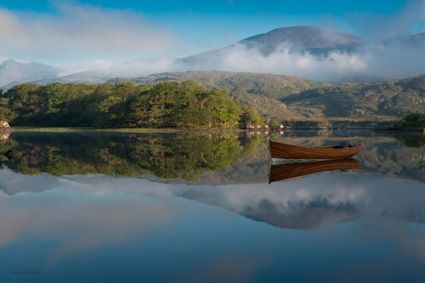 """Patrick O'Toole offers """"Boat on a Mirror Lake"""" Photograph for Sale as Fine Art"""
