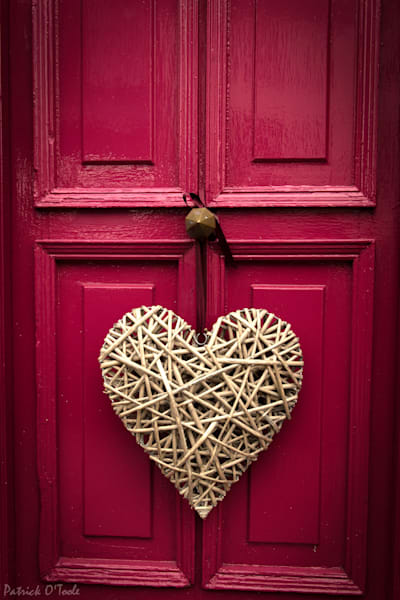 Heart on Red Door Photograph for Sale as Fine Art