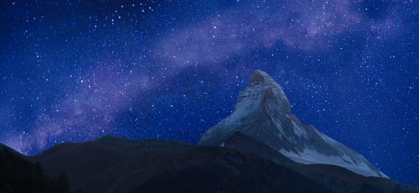 Milky Way and Matterhorn, Zermatt, Valais, Switzerland