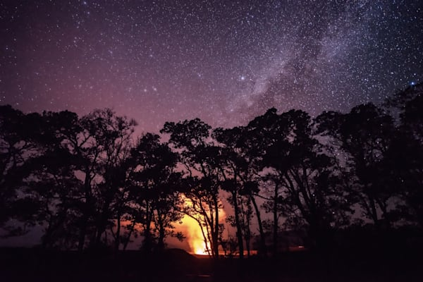 Hawaii Photography | Pele Under the Stars by Peter Tang