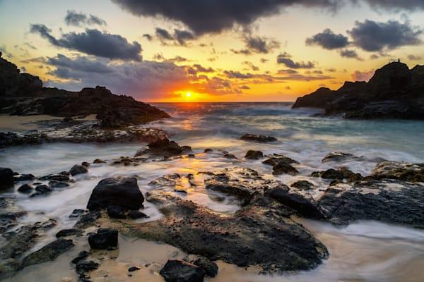 Hawaii Photography | Halona Beach Cove Sunrise by Peter Tang