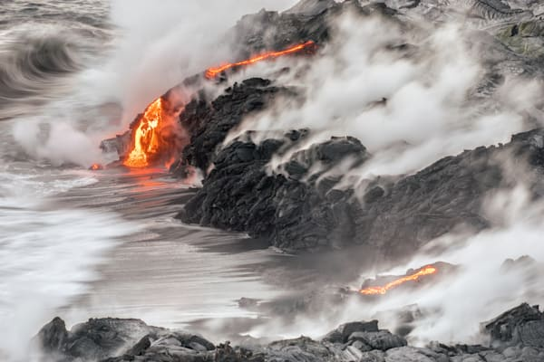 Nature Photography | Hot Lava Shore by Peter Tang