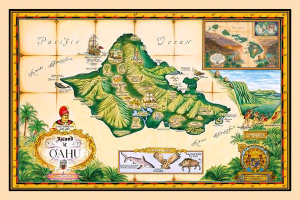 Blaise Domino | Oahu Historical Map