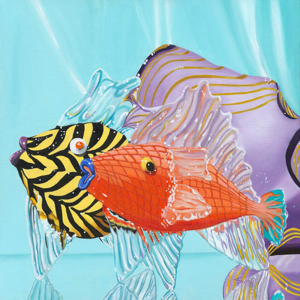 """Glassy Fish"" Art   Terri Davis Gallery"