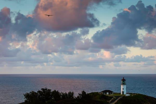 Kilauea Lighthouse, lighthouse, dusk, Kauai