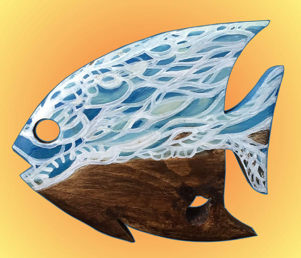Blue Wave Angelfish - Teresa Young