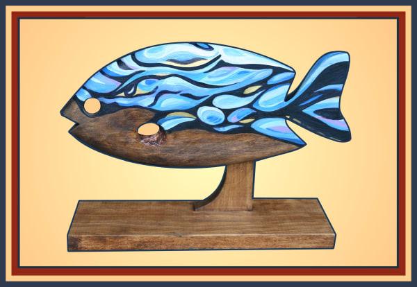 Rapids Blue Fish - Teresa Young