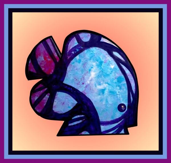 Abstract Blue Gill - Teresa Young
