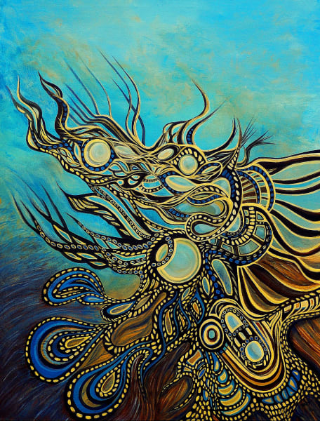Surrealistic Reflections - A Dream of Sentient Paisley
