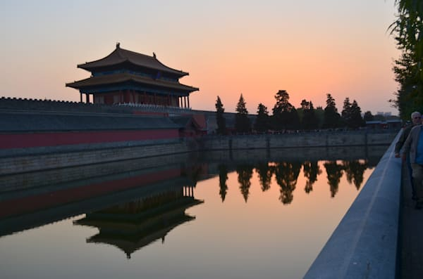 Canal Along Tiananmen Square Reflects Unique Wall--China