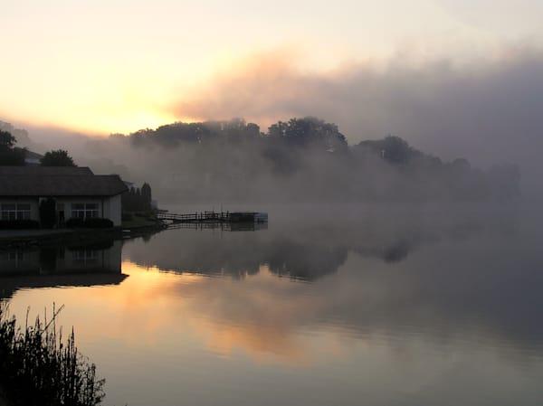 Early morning fog--Lake Junealuska, SC