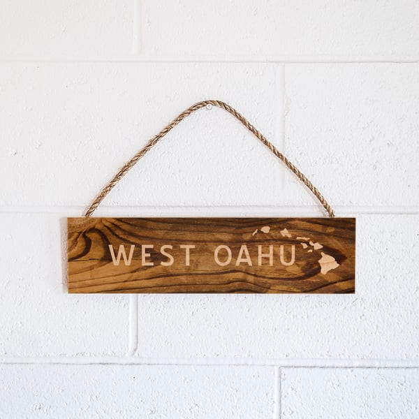 Rope Sign | West Oahu