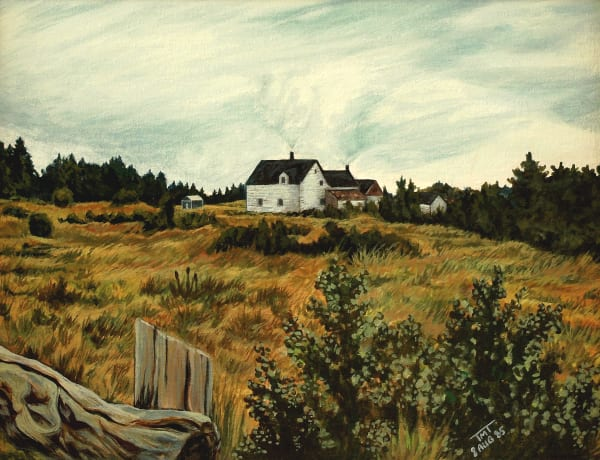 Realistic Painting of a New Brunswick Farm in Canadian Maritimes