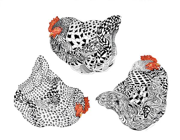 Heritage Hens by Mari Adams | SavvyArt Market art prints