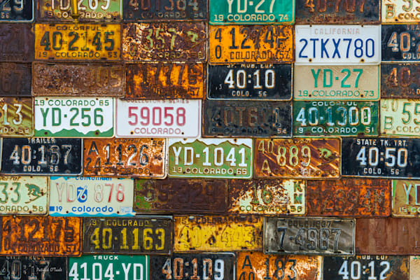 Colorado License Plates Photography Art by otoolephoto