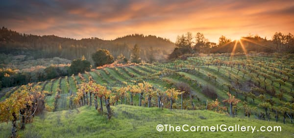 """Autumn Sunset Hans Fahden"" 