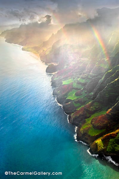 Na Pali Coast Rainstorm Art | The Carmel Gallery