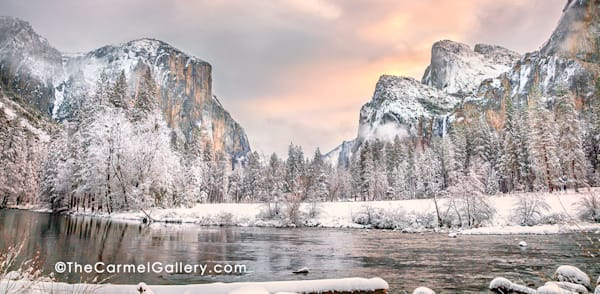 Winter Morning Valley View Art | The Carmel Gallery