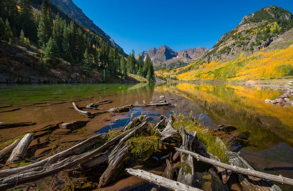 Buy Colorado Photography Prints of Aspen Maroon Bells